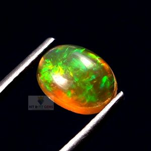 Natural Ethiopian Opal Smooth Oval Cabochon, 8X6mm