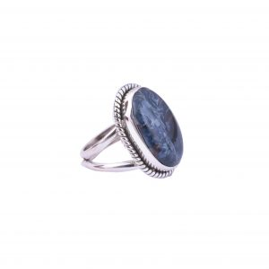 Natural Pietersite & Solid 925 Sterling Silver Gemstone Ring - R1013