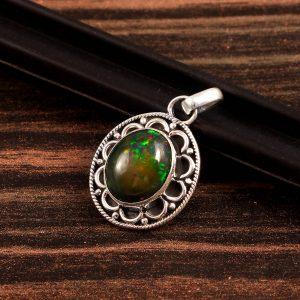 Natural Opal Stone 925 Sterling Silver Pendant Jewelry P-612