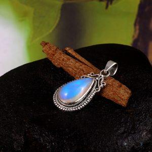 Gemstone Opal Stone 925 Sterling Silver Pendant Jewelry P-788